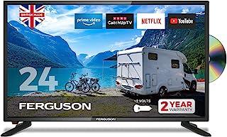 Ferguson 12 伏 F2420RTSF-12v 24 英寸智能 LED 电视/DVD 下载应用程序 Netflix Disney +