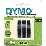 "DYMO 3D 塑料压花标签机,黑色白色打印,3/8"" x 9.8',3 卷包装(1741670)"