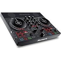 Numark Party Mix Live – DJ 控制器套装,内置扬声器,灯光显示和混音器,适用于 Serato D…