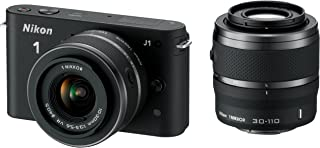 Nikon 1 J1 小型系统摄像机 - 家长 ASIN (10mm 镜头套件) NIKON 1 J1 Black (10-30mm and 30-110mm Twin Kit)