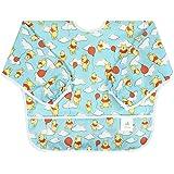Bumkins迪士尼婴儿防水袖口围兜,小熊维尼气球(6-24个月)