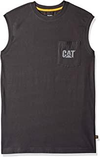 Caterpillar 男式商标无袖 T 恤