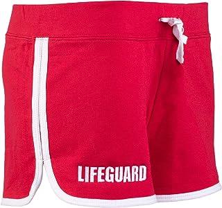 Lifeguard 少女短裤 | 红色女式可爱救生法法兰绒混纺底裤