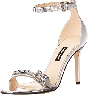 Nine West 女士系带单鞋底高跟凉鞋