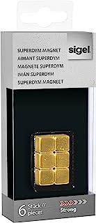 Sigel SuperDym-磁铁 6 Stück Cube gold