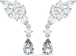 SWAROVSKI 女式网球豪华珠宝系列,铑饰面,透明水晶