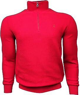 Polo Ralph Lauren 拉夫劳伦男式1/2拉链毛衣 * 棉 710697637036 红色(L 码)