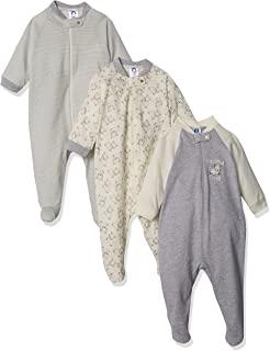 Gerber Organic Sleep 'N Play 女婴款连体睡衣3 件装