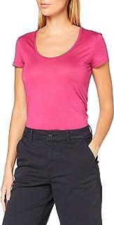BOSS 女士 Tigreaty T 恤由棉混纺制成,莫代尔和 U 形领