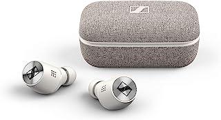 Sennheiser 森海塞尔 Momentum True Wireless 2 蓝牙耳塞,带主动降噪功能,智能暂停,可自定义触摸控制和 28 小时电池寿命 - 白色 (M3IETW2 白色)
