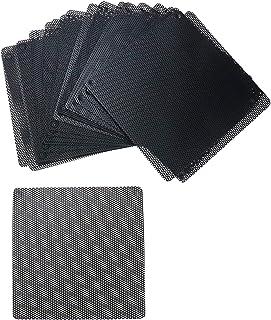 HONJIE 3.1 英寸/80 毫米防尘过滤器电脑风扇厚度 0.5 毫米过滤器冷却器 PVC 黑色防尘保护套电脑网面 20 包