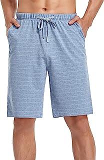 COLORFULLEAF 男士睡裤棉质睡衣短裤轻质休闲裤睡衣下装