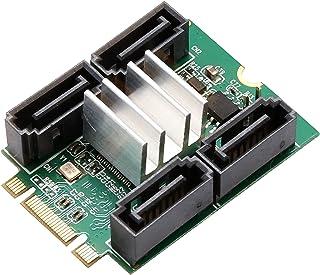Syba SD-ADA40118 4 端口 SATA III 到 M.2 NGFF 插座适配器转换器卡