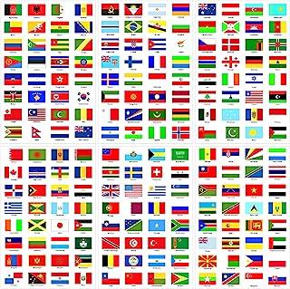 30 张世界国旗贴纸世界旗帜贴纸 960 片迷你国家国旗贴纸贴花旅行贴纸适用于学校、日记、剪贴簿、规划师