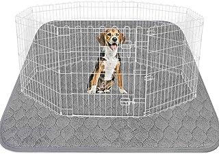 LUFFWELL 可水洗超厚狗狗垫,182.88 cm 182.88 cm 超大吸水小狗训练垫,可重复使用的脚垫,无泄漏,防水狗垫防滑便盆地毯,适用于狗狗游戏围栏、狗舍