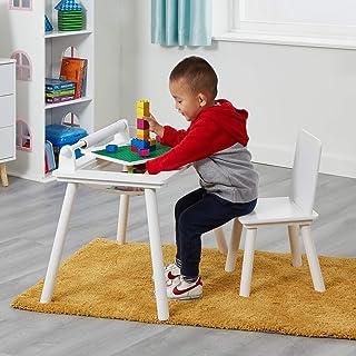 Liberty House Toys TF5197-W 书写桌和椅子套装 带顶部