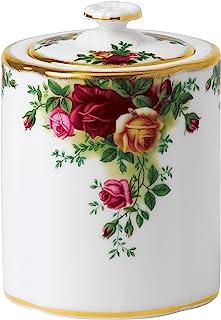 Royal Albert Old Country Roses 童车茶会,白色,彩色印刷,4.4英寸(约11.18厘米)高