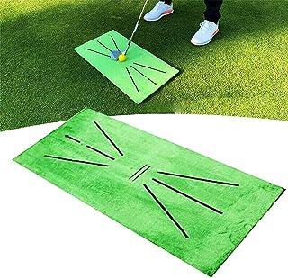无品牌高尔夫训练垫便携式挥杆检测击球垫迷你高尔夫练习训练辅助地毯高尔夫击打冲击垫反馈适用于家庭办公室户外 ACU-Strike 柔软天鹅绒草地击球垫