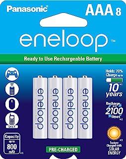 Panasonic 松下电器 BK-4MCCA8BA eneloop AAA 2100循环镍氢预充电充电电池,8个