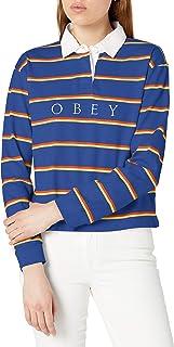 Obey 女式长袖橄榄球衬衫