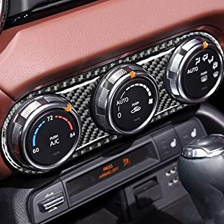 汽车中心行车板 AC 面板空调控制按钮气候控制开关框架贴纸碳纤维配件适用于马自达 MX 5 Miata ND Roadster 2016 2017 2018 2020 2021 MX5 (CF)