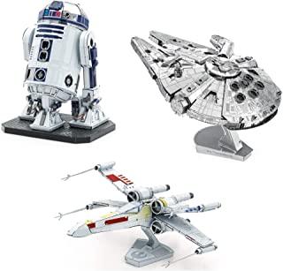 fascinations Metal Earth ICONX 3D 金属模型套件 星球大战 3 件套 千年隼 - R2-D2 - X-翼星际战斗机