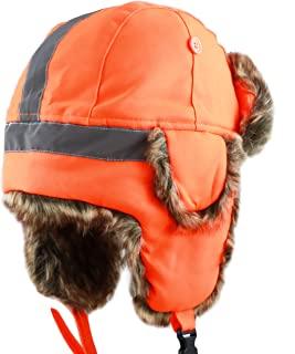 THE HAT DEPOT 人造毛皮*反光飞行员儿童成人渔夫帽雪地滑雪*冬季帽