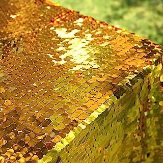 OVEVO 大金色 Payette 亮片桌布 127.6 x 182.8 cm 闪亮长方形桌布 生日快乐婚礼万圣节派对装饰