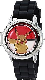 Pokemon 男孩银色石英手表,塑料表带,多色,15 (型号:POK4221AZ)