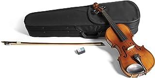 PURE GEWA 小提琴套装 HW 硬木 3/4 套装 - 带下巴托,精致调谐器、蝴蝶结、松木盒,带背带
