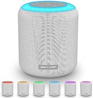 Buffbee 白噪声机 带舒缓声音的* 带夜灯 计时器和*功能 织物设计 成人婴儿、儿童、家庭和办公室(白色)