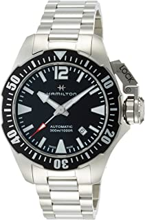 Hamilton Khaki *蓝 Frogman 自动黑色表盘男式手表 H77605135