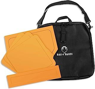 Base Bag of Base - 抛下棒球底座,带定制便携包 - 非常适合棒球、牙胶、垒球、足球、儿童、后院、练习和学校