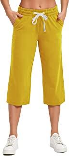 SPECIALMAGIC 女式瑜伽七分裤休闲裤室内直筒阔腿七分裤