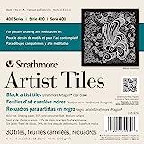 """Strathmore Artist Tiles 6""""X6"""" 30/Pkg-Black"""