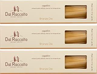 Dal Raccolto Bronze Die Cut Pasta, Capellini, 1 lb (Pack of 3)