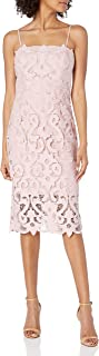 Bardot 女式全蕾丝扇形下摆可调节思维肩带派对礼服