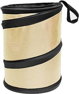 FH Group FH1120BEIGE 汽车垃圾桶便携式可折叠汽车垃圾桶防水垃圾桶,小号,米黄色