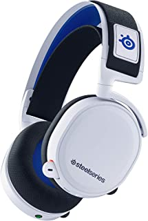 SteelSeries Arctis 7P 无线-无损2.4 GHz游戏耳机-适用于PlayStation 5和PlayStation 4-白色-PlayStation 5