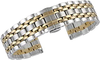 金属手表手镯替换品 316L 实心不锈钢直端