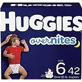 Nighttime 婴儿纸尿裤尺寸 6,42 片,Huggies Overnites