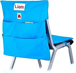 COMFY BUM 椅子袋,缓冲收纳袋,椅子收纳袋,椅子口袋,座椅袋,适用于返校,学生,儿童,学校,教师,课堂,幼儿园,家庭作业,宿舍,学院,办公室 大 蓝色