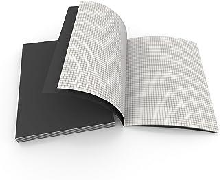[ 5 本书] 网格笔记本、图表纸、网格纸白色 38 张(L、网格、笔记本)