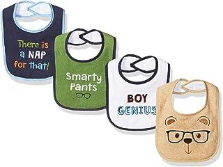 Luvable Friends 中性款婴儿婴儿 drooler 围兜,4件装