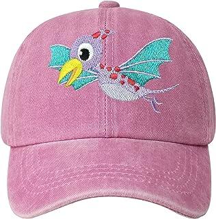 火烈鸟恐龙刺绣棒球帽 适合男孩女孩