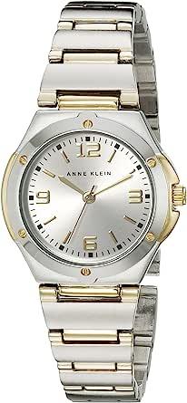 Anne Klein 108655SVTT 女士两色圆形正装手表