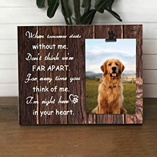 Yosa 狗照片礼品宠物照片夹框木制猫纪念图片夹框农场纪念动物慰问个性化相框 30.48 x 20.32 厘米