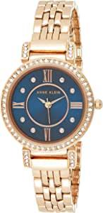 Anne Klein 女士高级水晶手链手表,AK / 2928