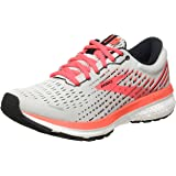 Brooks 女式 Ghost 13 跑步鞋, Grey/Fiery Coral/White