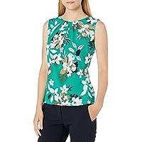 Calvin Klein 女式褶皱领吊带衫